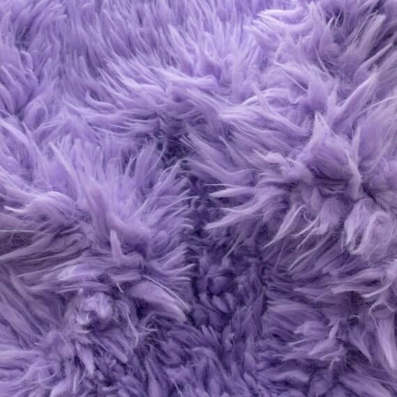 Purple Baby Fabric Of Faux Fake Fur Sherminky Soft Goat Hair Light Purple 60 Inch