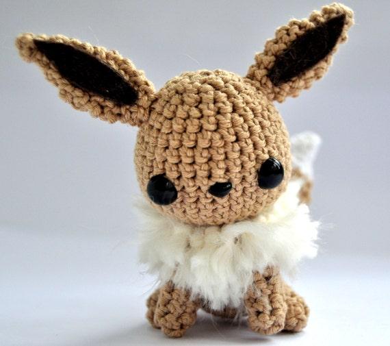 Amigurumi Crochet Pattern Etsy : Eevee pokemon amigurumi