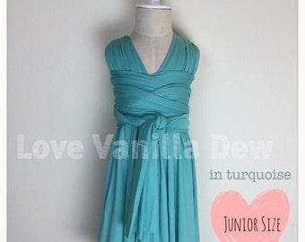Junior Bridesmaid Dress Infinity Dress  Turquoise Convertible Dress Multiway Wrap Dress