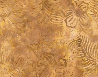 Timeless Treasures Tonga Tropical Batik in Ginger  Fabric 180