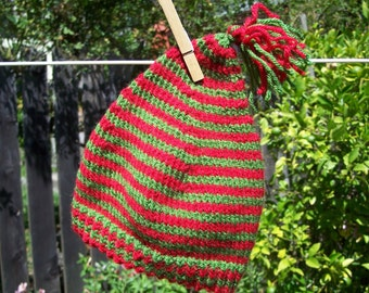 Striped Baby Elf Hat with Jingle Bell, 0-2 years
