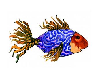 11x14 Starry Eyed Fish Print