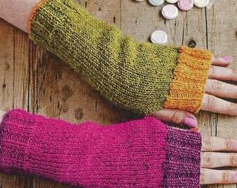 Instant Download - PDF- Great DK Fingerless Gloves Knitting Pattern (KA2)