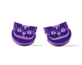 Cheshire Cat Stud Earrings