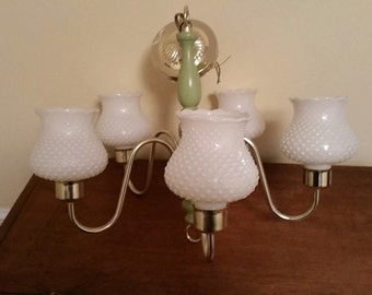milk glass chandelier on Etsy a global handmade and