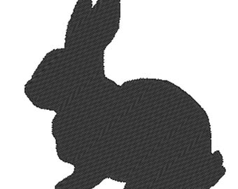 Rabbit Silhouette - embroidery design - instant download - one color