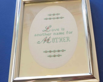 Cross Stitch Sampler with Frame
