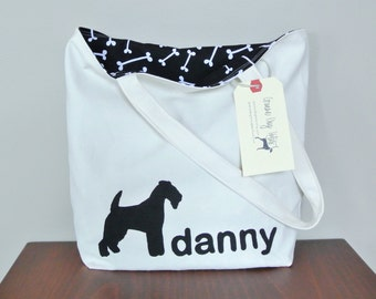 Custom personalized dog tote