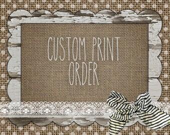 Custom Print Order for Jenee Travis