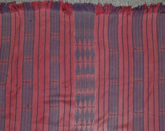 Hand Woven : Authentic Naga Rare AO/Phom Acrylic Feast Givers Body Cloth #649