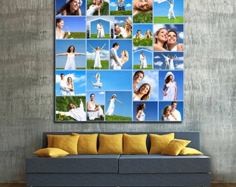 Personalized Picture Collage/ Wedding Collage/ Family Photo Collage/ Collage on Canvas/ Collage Art/ Personalized Collage Photo on canvas