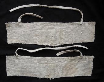 Akutokake - heel protector, Shonai Sashiko stitched, vintage Japanese cotton, noragi