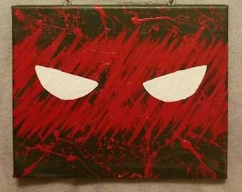 Splatter Paint Teenage Mutant Ninja Turtles Wall Art w/ Raphael, Donatello, Michelangelo, & Leonardo
