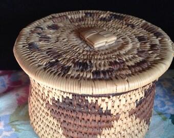 African handwoven basket