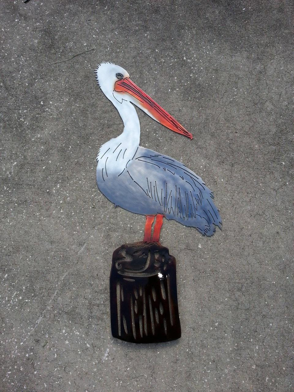 Pelican Wall Art Metal Pelican Sea Bird Home Decor Coastal