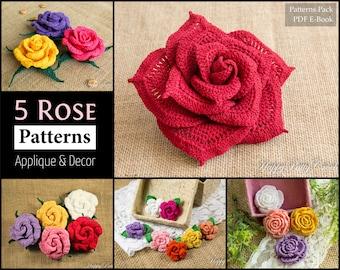 Free Crochet Rose Petal Pattern : Chandeliers & Pendant Lights