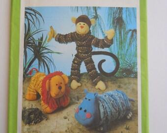 Vintage 70's Toy Animal Pattern / Craft Pattern / Yo Yo Animals