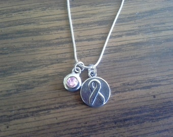 Breast Cancer Awareness Charm Necklace