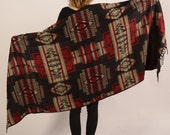 indian wool shawl, blanket, ethnic pattern, aztec, hippie, goa, peru, poncho, bohemian