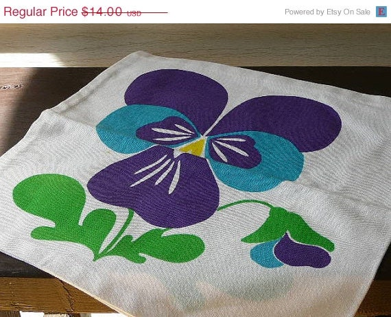 SALE 20 % Pillow Case Scandinavian Design by vintageTEXTILESdecor