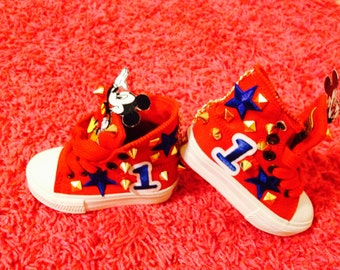 Custom Mickey mouse shoes