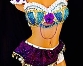 Esmeralda  rave costume . 4 piece costume that Turns heads at any event ,concert or competition