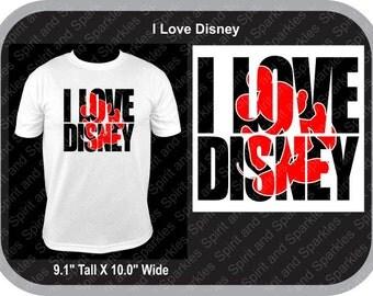 I Love Disney T-Shirt, Tank or Hoodie