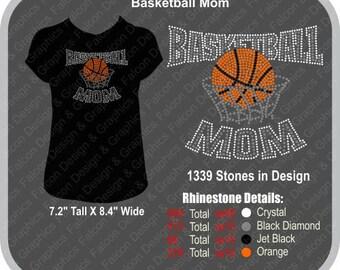 Basketball Mom Rhinestone T-Shirt, Tank or Hoodie