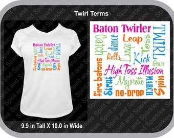 Twirl Terms T-Shirt, Tank or Hoodie