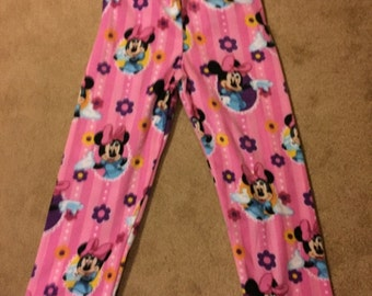 Minnie Mouse Fleece PJ Pants Sz XL 12/14