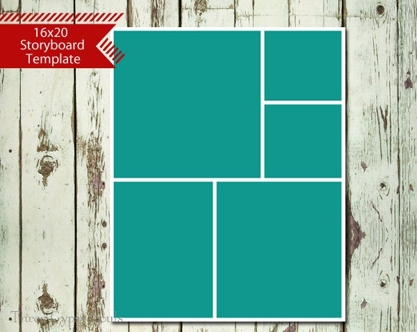 16x20 storyboard collage template layered psd collage for 4 picture collage template