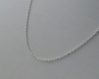 Sterling Silver Chain 18 inch- 1.2mm sterling silver necklace, Sterling Silver, simple sterling silver chain, 925, DIY, jewelry supply