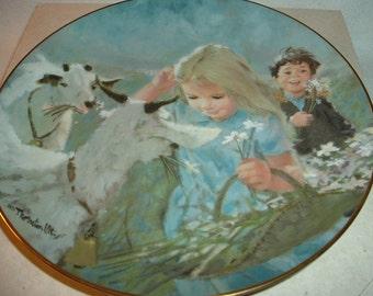 1983 Thornton Utz 1st issue Mountain Friends Plate in box