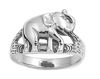 Elephant Ring 13MM Sterling Silver 925