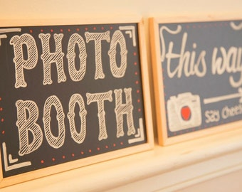 Wedding Photo Booth Sign - Vintage Chalk Board