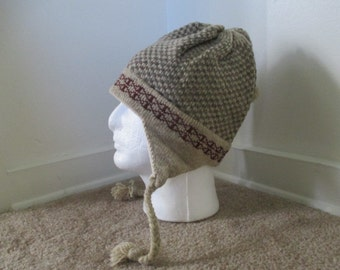 Checkerboard ski hat