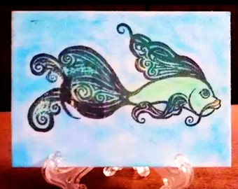 ACEO Art Card-Fish