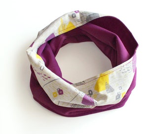 Circular Scarf Purple 01