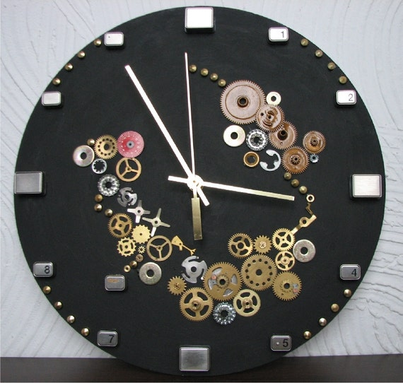 Wall Clock Steampunk home decor home and living unique wall