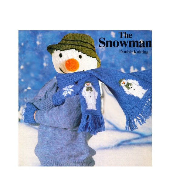 Knitting Pattern For Snowman Mittens : Snowman Scarf & Mittens to Knit PDF Download File. Knitting