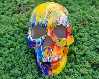 Sugar Skull Day of the Dead HandMade Sugar Skulls Ceramic Skull Mexican Skull Decoration - MADE TO ORDER