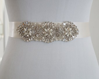 Wedding Belt, Bridal Belt, Sash Belt, Crystal Rhinestone Belt, Style 163