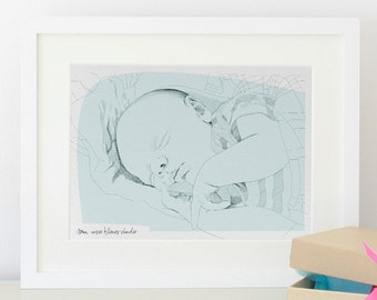 Personalized baby portrait