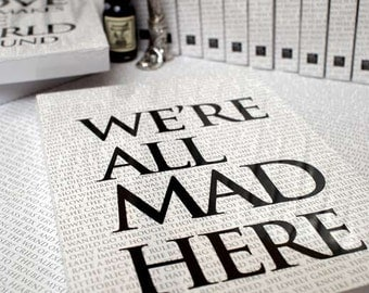 Writing book: We're all Mad Here