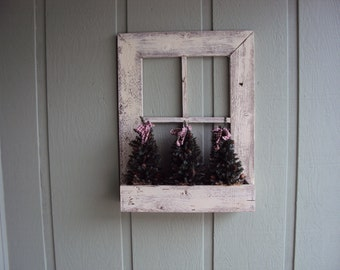 Window Frame, handmade in Your Choice of Color and Finish. Can be Made with or without Box at Bottom.