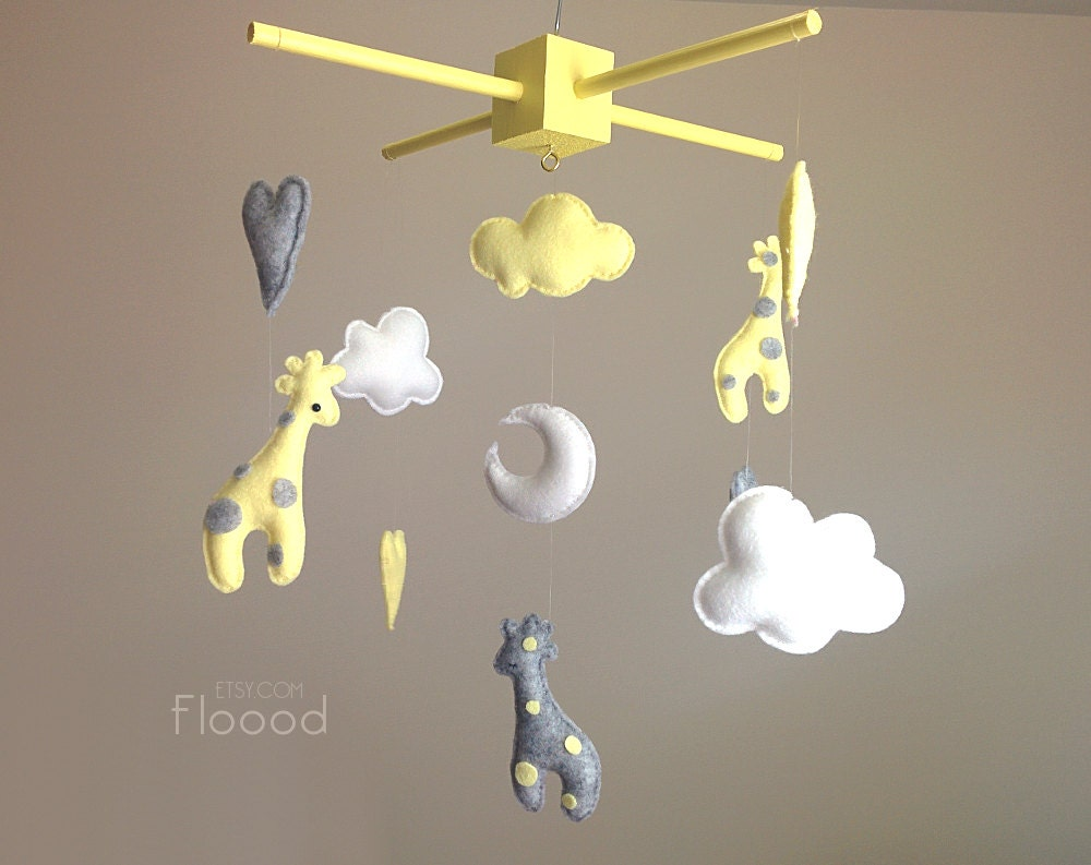 giraffe baby mobile modern nursery decor unique baby by
