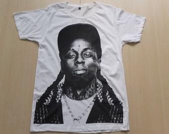 LIl Wayne Hip Hop Rap Rock  Icon Fashion T-Shirt S, M Size