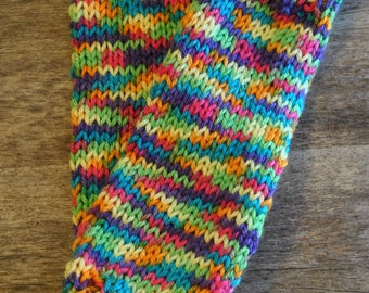 Armwarmers Knitted Fingerless Mittens Wristwarmers Fingerless Gloves Plus Size Rainbow Multicolor