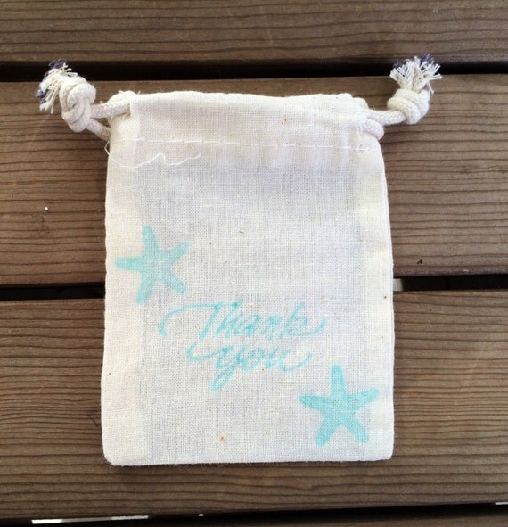 Wedding Gift Bags For Beach Wedding : Thank You Bag, Beach Wedding Favor Bag, Beach Wedding Thank You Bag ...