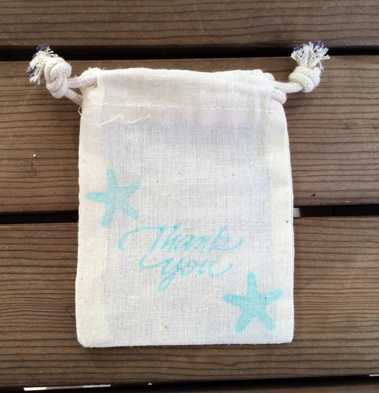 10 Starfish Thank You Bag Beach Wedding Favor Bag Beach
